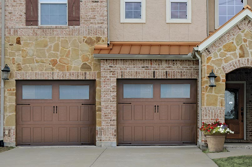 new steel garage door design