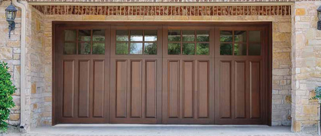wood garage door doors costco steel vs composite designs