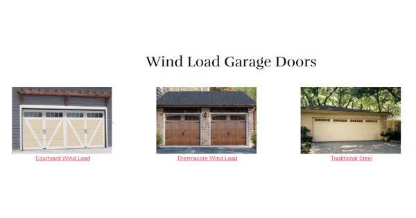 Wind Load Garage Doors