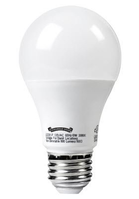LED bulb for garage door opener